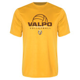 Performance Gold Tee-Stacked Volleyball Design