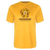 Performance Gold Tee-Soccer Design