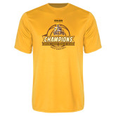 Performance Gold Tee-2017 Mens Basketball Champions Basketball Ribbon