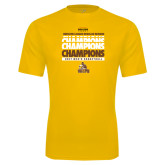 Syntrel Performance Gold Tee-2017 Mens Basketball Champions Repeating