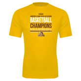 Syntrel Performance Gold Tee-2017 Mens Basketball Champions Stacked