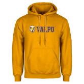 Gold Fleece Hoodie-Flat Valpo Shield