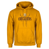 Gold Fleece Hoodie-Football Field Design