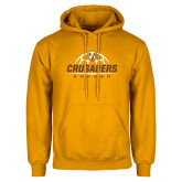 Gold Fleece Hoodie-Stacked Soccer Design