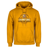 Gold Fleece Hoodie-2017 Mens Basketball Champions Basketball Ribbon