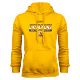 Gold Fleece Hoodie-2017 Mens Basketball Champions