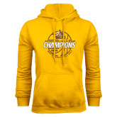 Gold Fleece Hoodie-2017 Mens Basketball Champions Basketball