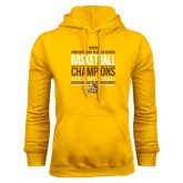 Gold Fleece Hoodie-2017 Mens Basketball Champions Stacked