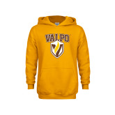 Youth Gold Fleece Hoodie-Stacked Valpo Shield