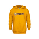 Youth Gold Fleece Hoodie-Flat Valpo Shield