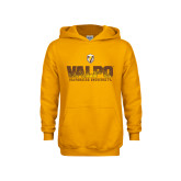 Youth Gold Fleece Hood-Stacked Valpo Design