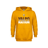 Youth Gold Fleece Hoodie-Valpo Nation