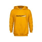 Youth Gold Fleece Hoodie-#VALPOGAMEDAY