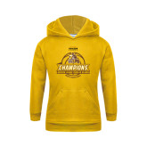 Youth Gold Fleece Hoodie-2017 Mens Basketball Champions Basketball Ribbon