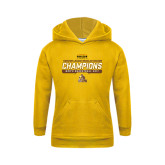 Youth Gold Fleece Hood-2017 Mens Basketball Champions