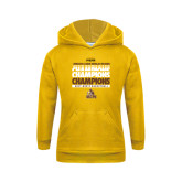 Youth Gold Fleece Hood-2017 Mens Basketball Champions Repeating