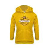 Youth Gold Fleece Hoodie-2017 Mens Basketball Champions Basketball