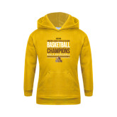 Youth Gold Fleece Hoodie-2017 Mens Basketball Champions Stacked