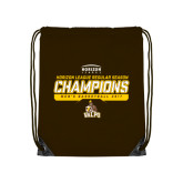 Brown Drawstring Backpack-2017 Mens Basketball Champions