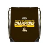 Brown Drawstring Backpack-2017 Mens Basketball Champions