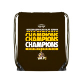 Brown Drawstring Backpack-2017 Mens Basketball Champions Repeating