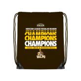 Brown Drawstring Backpack-2017 Mens Basketball Champions Repeating
