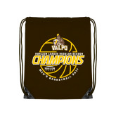 Brown Drawstring Backpack-2017 Mens Basketball Champions Basketball