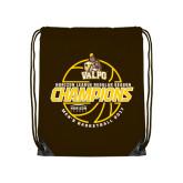 Brown Drawstring Backpack-2017 Mens Basketball Champions Basketball