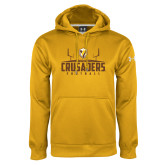 Under Armour Gold Performance Sweats Team Hoodie-Football Field Design