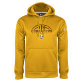 Under Armour Gold Performance Sweats Team Hoodie-Arched Basketball Design