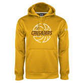 Under Armour Gold Performance Sweats Team Hoodie-Basketball Outline Design