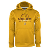 Under Armour Gold Performance Sweats Team Hoodie-Stacked Volleyball Design