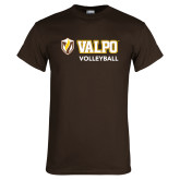 Brown T Shirt-Volleyball
