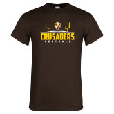 Brown T Shirt-Football Field Design