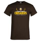 Brown T Shirt-Football Field Design