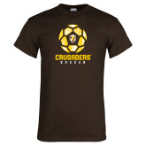 Brown T Shirt-Soccer Design