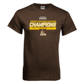 Brown T Shirt-2017 Mens Basketball Champions