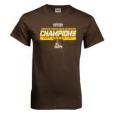 Brown T Shirt-2017 Mens Basketball Champions