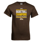 Brown T Shirt-2017 Mens Basketball Champions Stacked