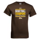 Brown T Shirt-2017 Mens Basketball Champions Stacked