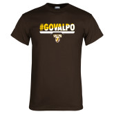 Brown T Shirt-#GOVALPO