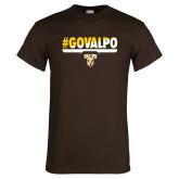 Brown T Shirt-#GOVALPO