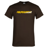 Brown T Shirt-#VALPOGAMEDAY