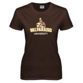 Ladies Brown T Shirt-Valparaiso University