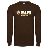 Brown Long Sleeve TShirt-Football