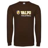 Brown Long Sleeve TShirt-Volleyball