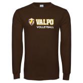 Brown Long Sleeve TShirt-Volleyball