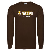 Brown Long Sleeve TShirt-Alumni