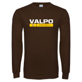 Brown Long Sleeve TShirt-Football Design