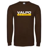 Brown Long Sleeve TShirt-Football Design